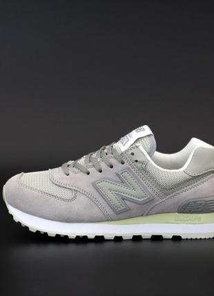 New balance 574 grey женские кроссовки нью баланс серые