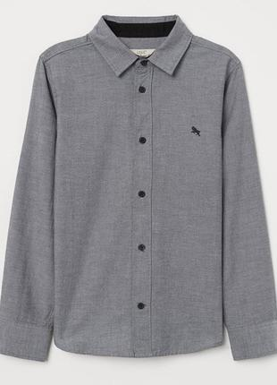 H&m детская рубашка на мальчика 13-14 лет