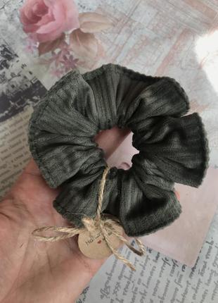 Вельветовая/бархатная объёмная резинка для волос/скранчи
