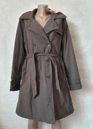 Новый с биркой фирменный утепленный плащ/куртка/пальто/ветровк...