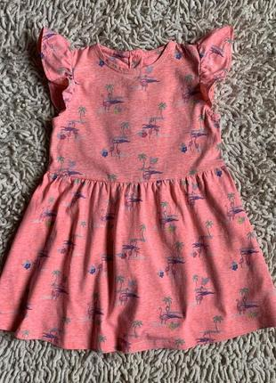 Платье с фламинго mothercare на 1,5-2 годика