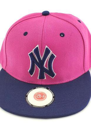 Детская бейсболка кепка с прямым козырьком 52 по 56 размер реп...