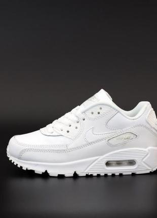 Nike air max 90 white🔺унисекс кроссовки найк аир макс белые
