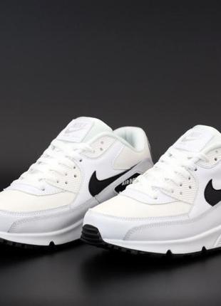 Nike air max 90 white/black 🔺 мужские кроссовки найк еир макс ...