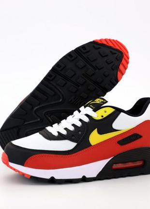 Nike air max 90 red ♦ мужские кроссовки найк ♦ весна лето осень
