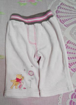 Мягусенькие штанишки для малышки - винни пух disney