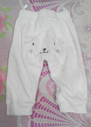 Стильные штанишки теплые мишка панда