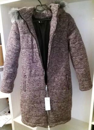 Пальто пуховик - куртка зимнее.