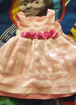 Платье нарядное. платьице на годик.