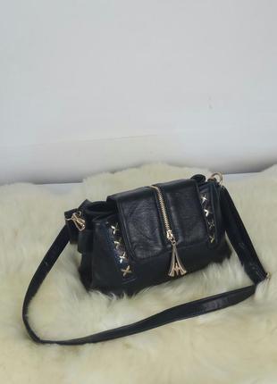 Сумка черная. сумочка женская через плечо