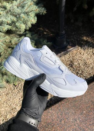Adidas falcon кожаные женские кроссовки адидас белый цвет (вес...
