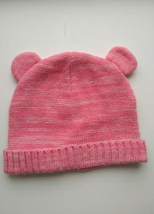Шапка шапочка деми 1,5-2 года с ушками