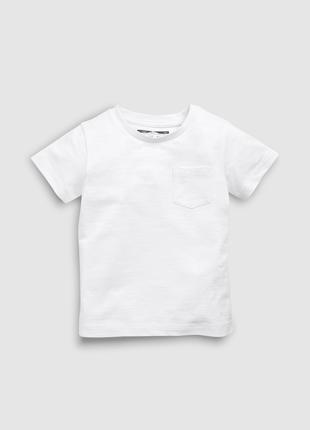 Белая футболка Next для мальчика 12-18 мес
