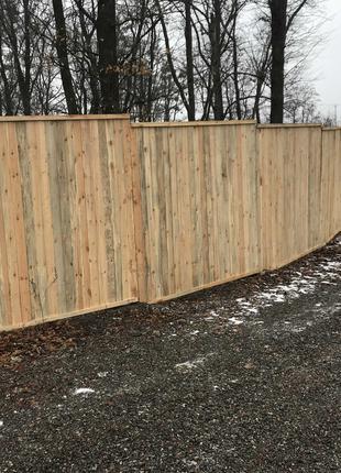 Забор из Щитов для стройки окрашенный и не окрашенный 2х2 метра.