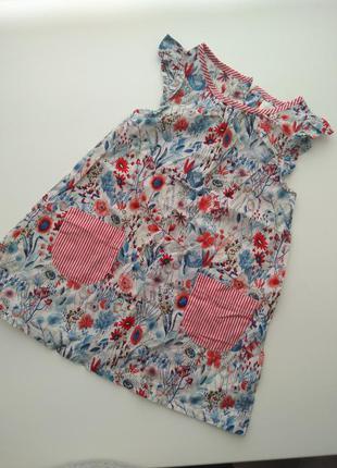 Платье платюшка сарафан туничка 9-12-18 мес 1-1,5 года