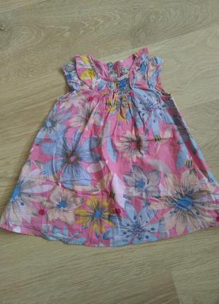 Платье платюшка сарафан туничка12-18 мес 1-1,5 года