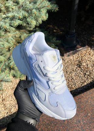 Adidas falcon white женские кроссовки адидас белые