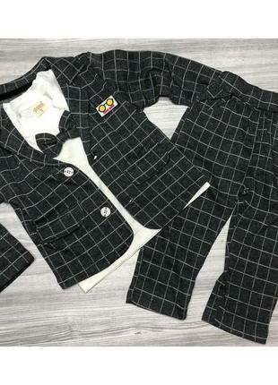 Стильний костюм для хлопчика сірий