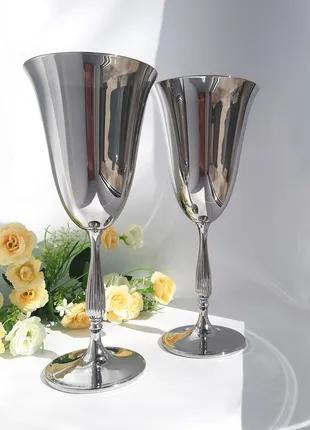 Набор бокалов для вина Bohemia Fregata 350 ml (цвет: СЕРЕБРО)
