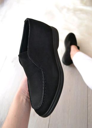 Женские демисезоные замшевые ботинки лоферы туфли ботильоны