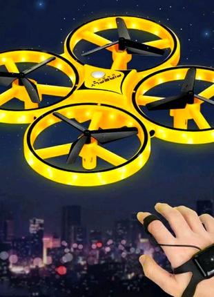 Квадрокоптер RC Tracker drone дрон управление жестами браслетом