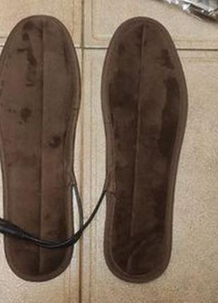 Зимние USB стельки с подогревом для обуви стельки термостельки
