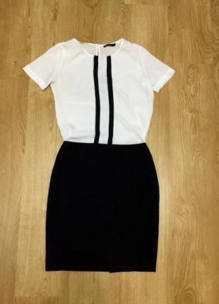 Классическая юбка с  высокой талией и молнией сзади befree