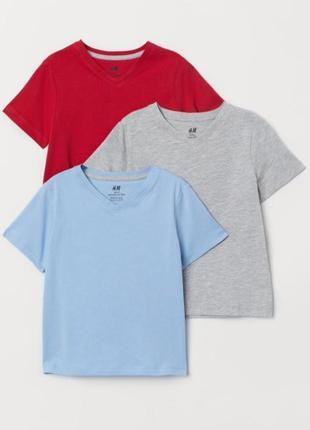 Набор трикотажных футболок h&m 6-8 лет