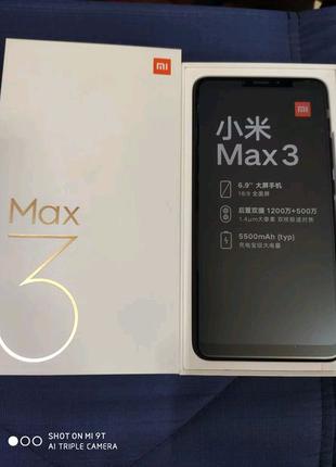 """Mi Max 3 Xiaomi 4/64,6,99"""",5500mAh, Black"""