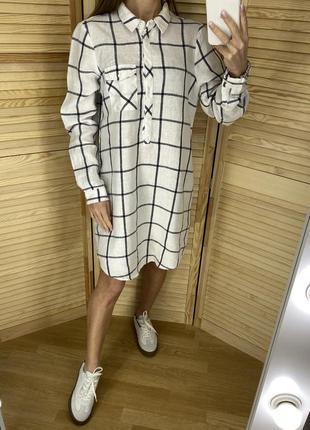 Льняное платье рубашка monsoon