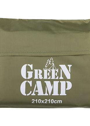 Пол дополнительный для палатки, тента, 210*210 cм, зеленый/коричн