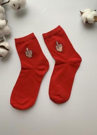 Стильные женские яркие носки со средним пальцем