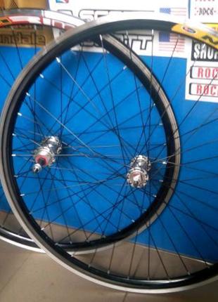 Вело колеса на двойном ободе 20,24,26,28 на промподшипнике дорожн
