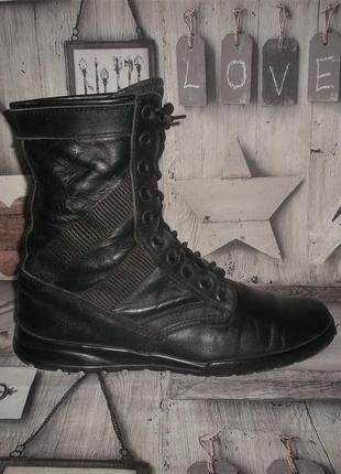 Кожаные ботинки берцы рр. 43 стелька 28 см.