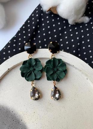 Красивые женские цветочные серьги, серьги в виде цветка