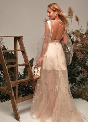 Платье на выпускной exclusive с открытой спиной