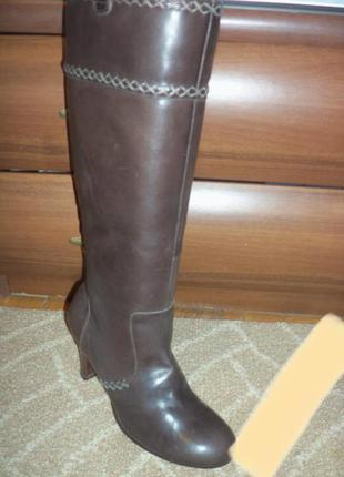 Женские кожаные сапоги 38 размер