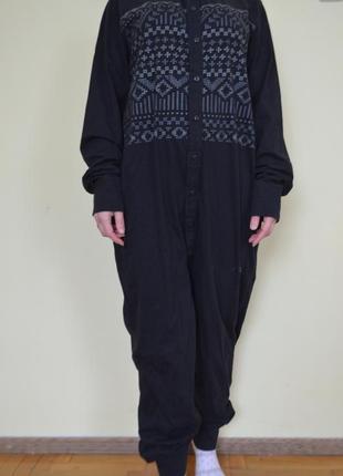 Пижама человечек кигуруми хлопок домашняя одежда унисекс