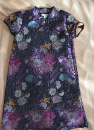 Шикарное нарядное платье на девочку 7-8 лет атласное мирового ...