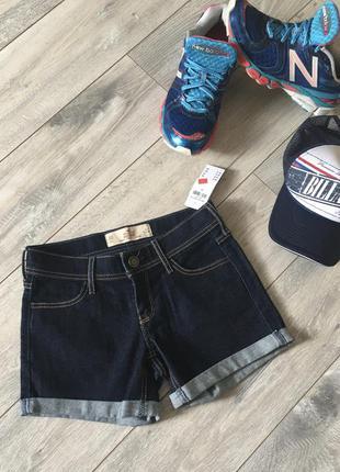 Новые! короткие джинсовые шорты деним с законом hollister