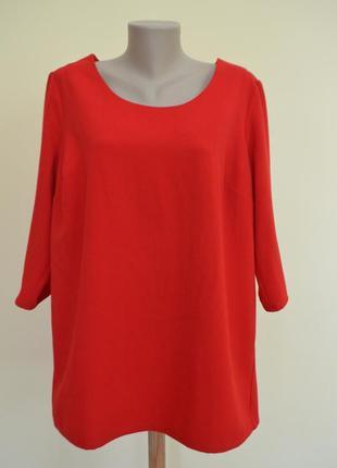 Красная блуза большой размер