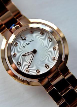 Бриллианты! женские часы с бриллиантами bulova rubaiyat, новая...