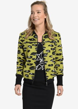 Новая куртка бомбер актуальный леопардовый принт - эко мех вор...