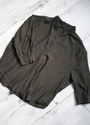 Блуза с рукавом рубашка zara woman