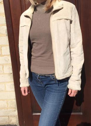 Куртка кожаная, весна-осень! состояние новой вещи!