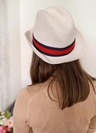 Безальтернативная шляпа панама лакшери бренд gucci fedora wove...
