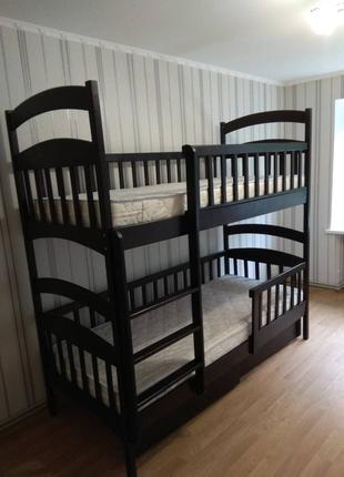Кровать детская двухъярусная трансформер деревянная Карина Люкс