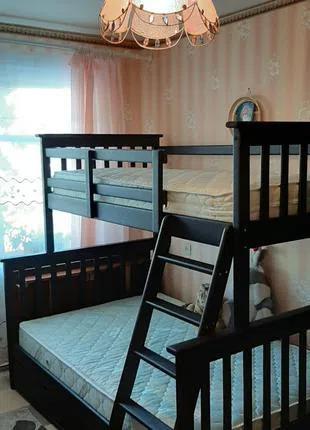 Кровать детская двухъярусная трехместная трехспальная Жасмин олим