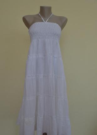 Белоснежное платье юбка 2 в 1