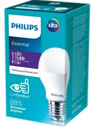 Светодиодная лампа Philips ESS LED Bulb 11W E27 4000K